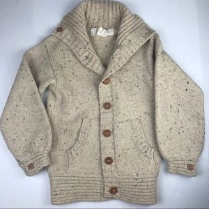 VINTAGE Wally Pearsall Ltd. Tan 100% Wool Cardigan